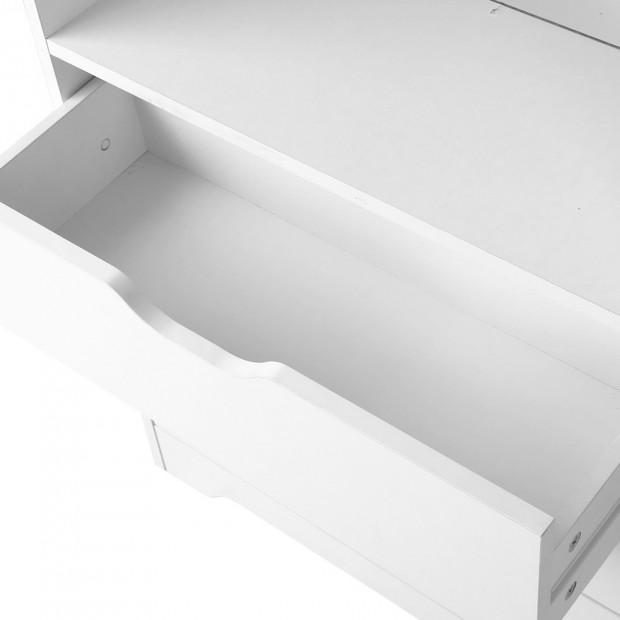 Artiss Display Drawer Shelf - White Image 5
