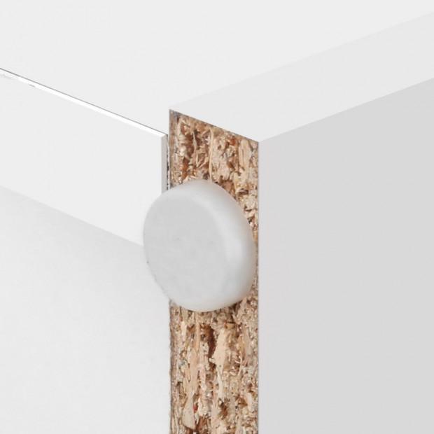 Artiss Display Drawer Shelf - White Image 6