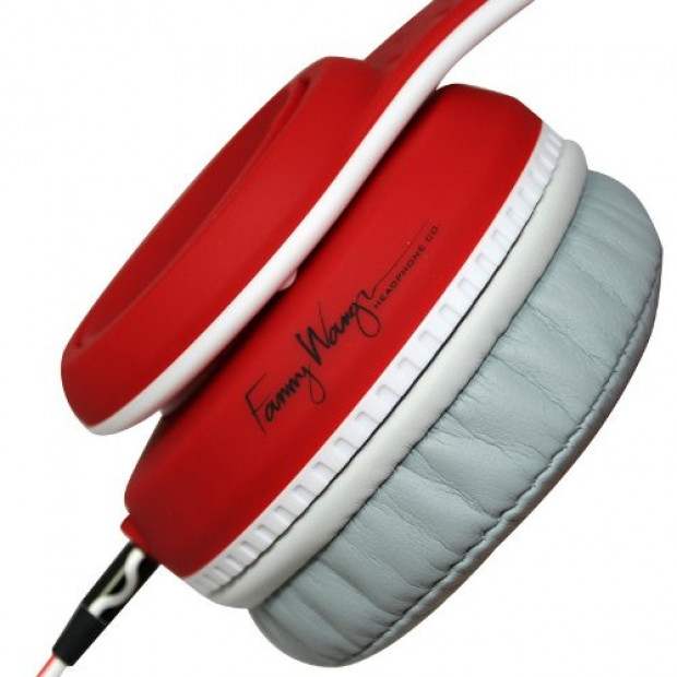 Fanny Wang 2000 Series Over Ear DJ Headphones - Red Image 2