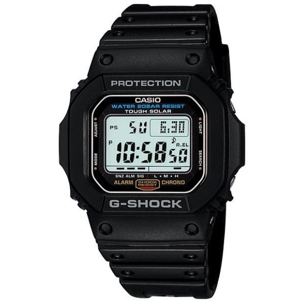 Casio G-Shock Digital Solar Mens Black Watch G-5600E-1DR