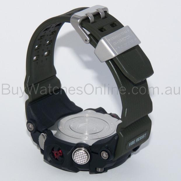 CASIO G-Shock Black/Green Solar Mudmaster Mens Watch GWG-1000-1A3DR Image 3