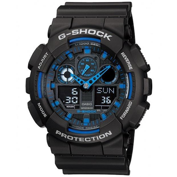 Casio G-Shock Analogue/Digital Mens Black Watch GA100-1A2