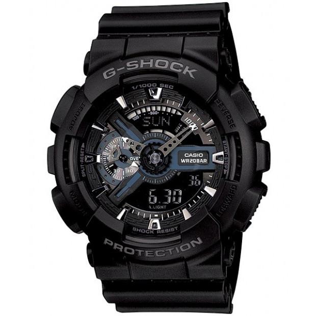 Casio G-Shock Analogue/Digital Mens Black Watch GA-110-1B