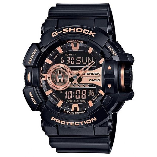 Casio G-Shock Black / Rose Gold Analogue/Digital Mens Watch