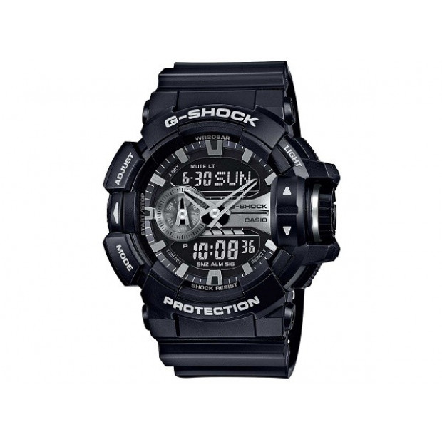 Casio G-Shock Black / Silver Analogue/Digital Mens Watch
