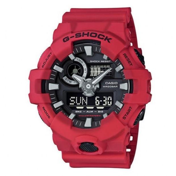 Casio G-Shock Red Analogue/Digital Mens Watch GA700-4A GA-700-4A