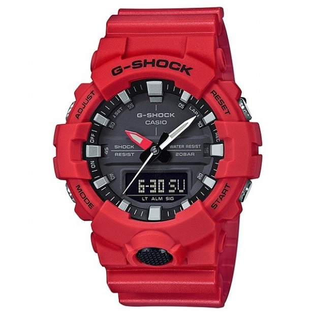 Casio G-Shock Red Analogue/Digital Athlete Watch GA800-4A GA-800-4A