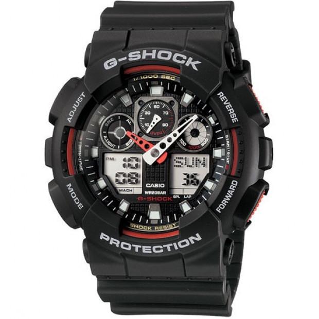 Casio G-Shock Mens Watch GA-100-1A4 GA-100-1A4DR