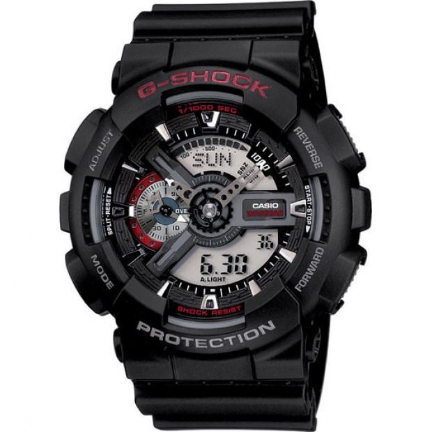 Casio G-Shock Analogue/Digital Mens Black Watch GA-110-1ADR