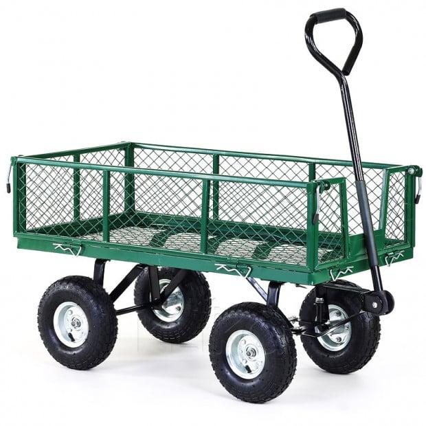 Steel Garden Utility Cart 250kg Capacity