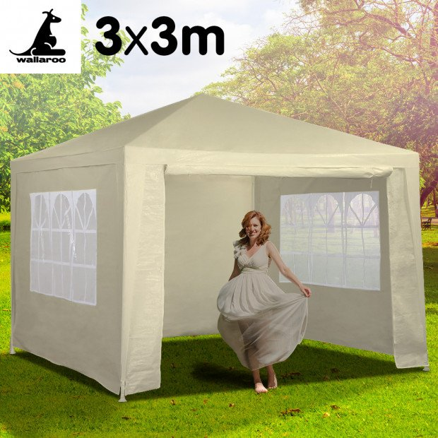 Wallaroo 3x3 outdoor event marquee Beige Image 2