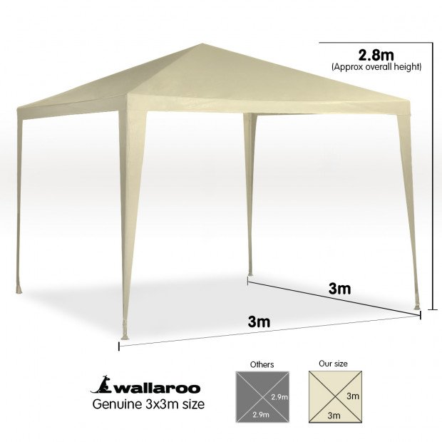 Wallaroo 3x3 outdoor event marquee Beige Image 7
