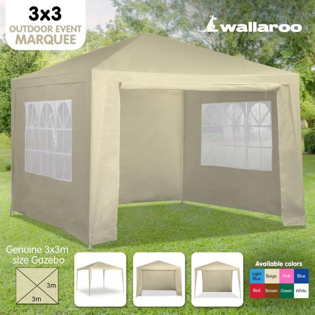 Wallaroo 3x3 outdoor event marquee Beige