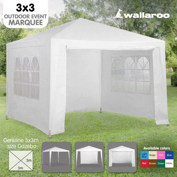 Wallaroo 3x3 outdoor event marquee White