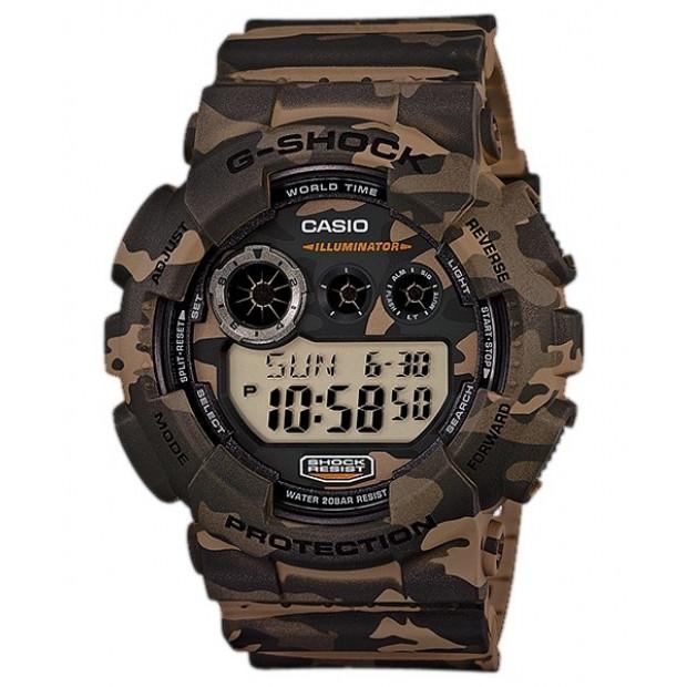 Casio G-Shock Digital Mens Camouflage Brown Watch GD120CM-5
