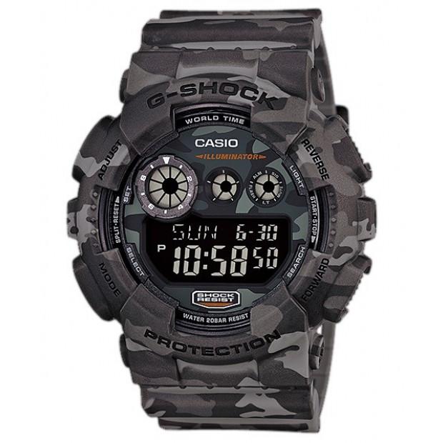 Casio G-Shock Digital Mens Camouflage Brown Watch GD120CM-8