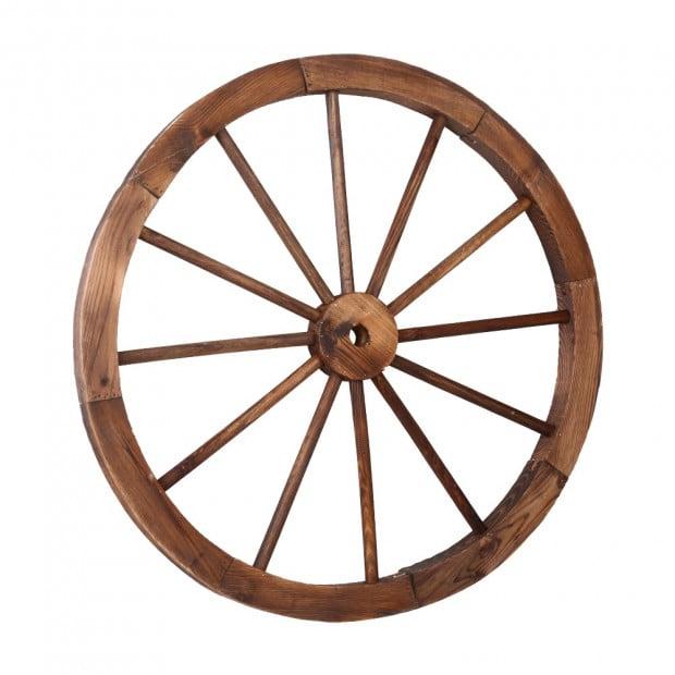 Decorative Garden Wooden Wagon Wheel