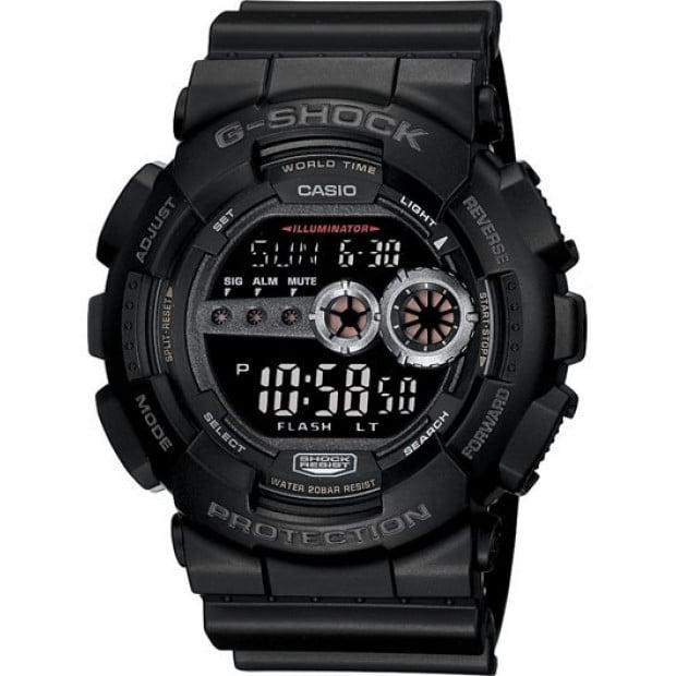 Casio G-Shock Digital Mens Black Watch GD100-1B GD-100-1BDR