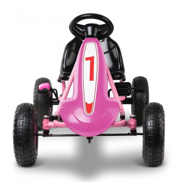 Kids Pedal Powered Go Kart - Pink Image 2