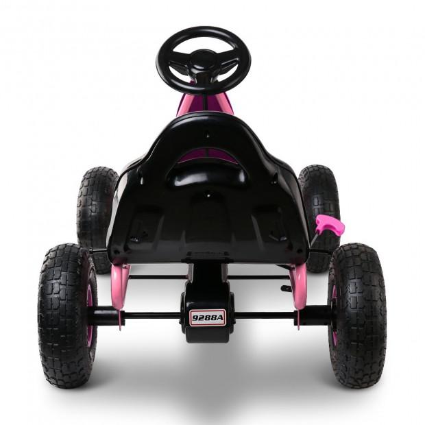 Kids Pedal Powered Go Kart - Pink Image 4