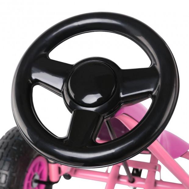 Kids Pedal Powered Go Kart - Pink Image 5