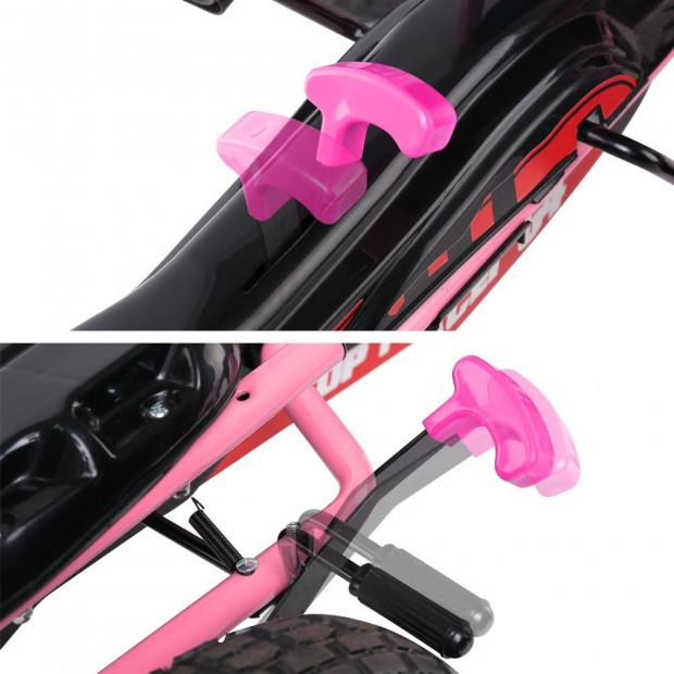 Kids Pedal Powered Go Kart - Pink Image 7