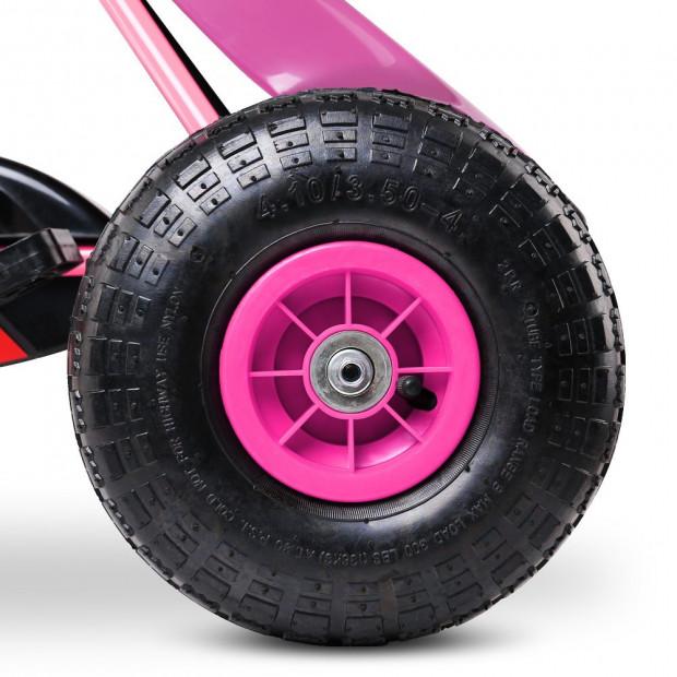 Kids Pedal Powered Go Kart - Pink Image 8