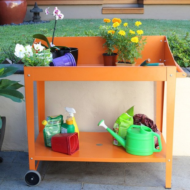 Potting Bench - Tangerine