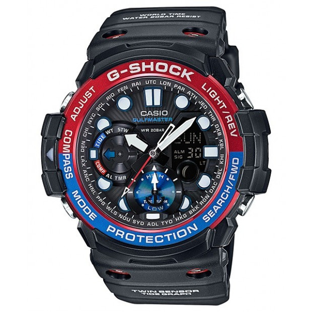 Casio Gulfmaster Analogue/Digital Mens Black Watch GN1000-1A