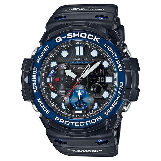 Casio Gulfmaster Analogue/Digital Mens Black Watch GN1000B-1A