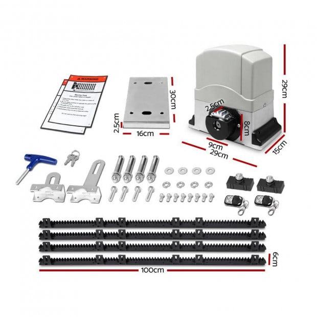 Electric Sliding Gate Opener 1200KG With Hardware Kit 4M Rail Image 1