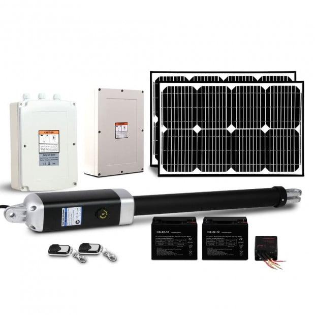 LockMaster 40W Swing Gate Opener Auto Solar  Remote Control 600KG Image 1