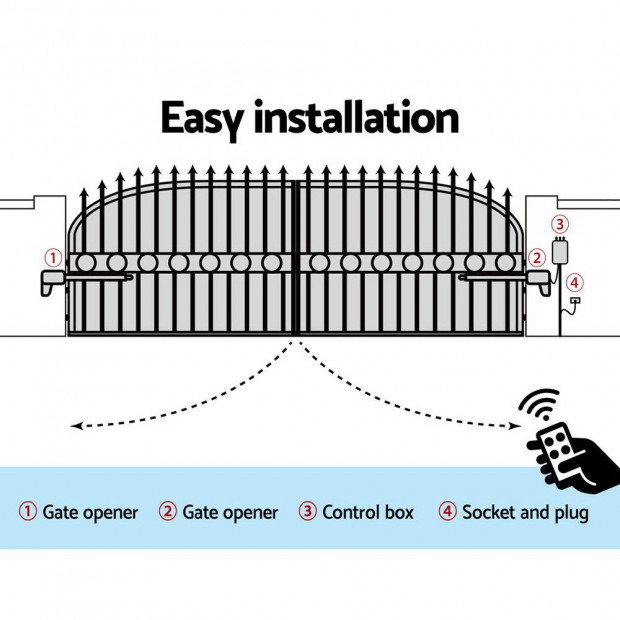 LockMaster Swing Gate Opener  Automatic Electric Kit Remote Control Image 5
