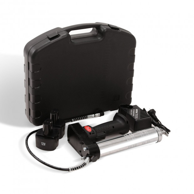 12V Rechargeable Cordless Grease Gun - Black