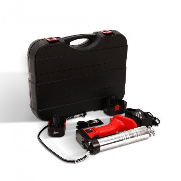 20V Rechargeable Cordless Grease Gun - Red Image 1