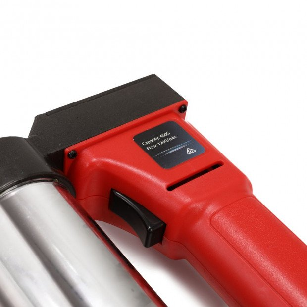 20V Rechargeable Cordless Grease Gun - Red Image 5