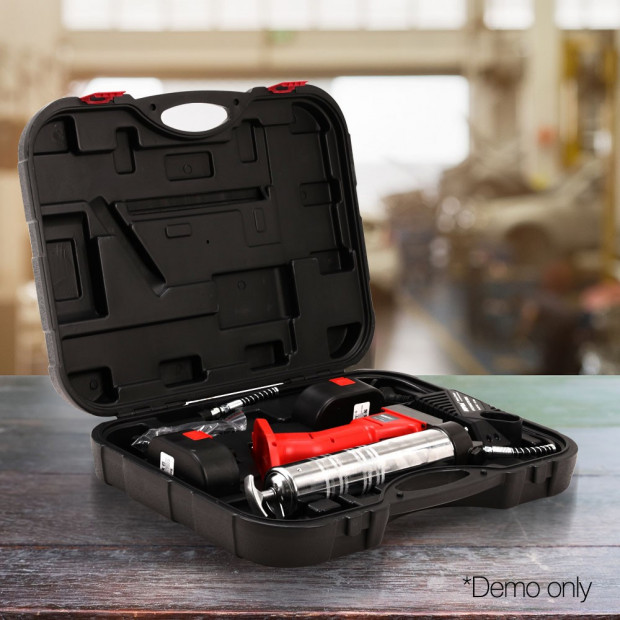 20V Rechargeable Cordless Grease Gun - Red Image 6