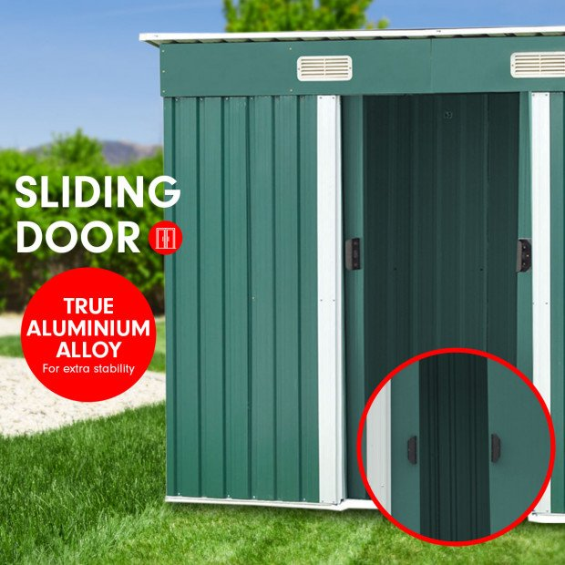 Garden Shed Flat 4ft x 6ft Outdoor Storage Shelter - Green Image 5