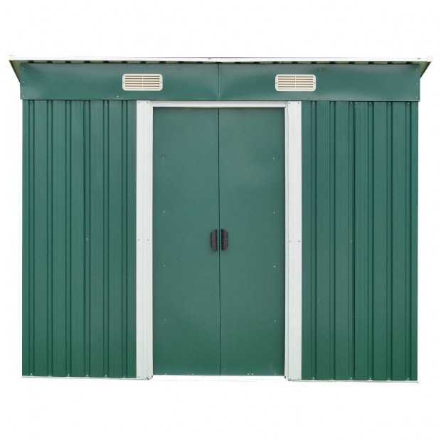 Garden Shed Flat 4ft x 6ft Outdoor Storage Shelter - Green Image 2