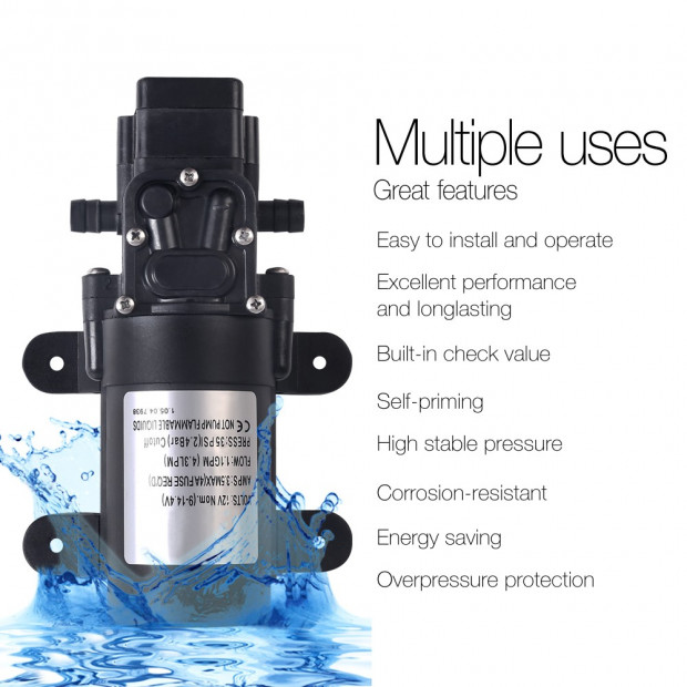12V Portable Water Pressure Shower Pump Image 3
