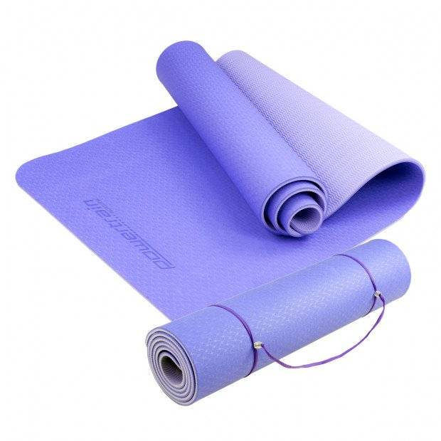 Powertrain Eco Friendly TPE Yoga Exercise Mat - Light Purple