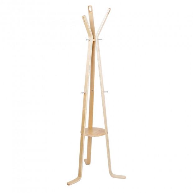 Wooden Coat Hanger Stand - Beige