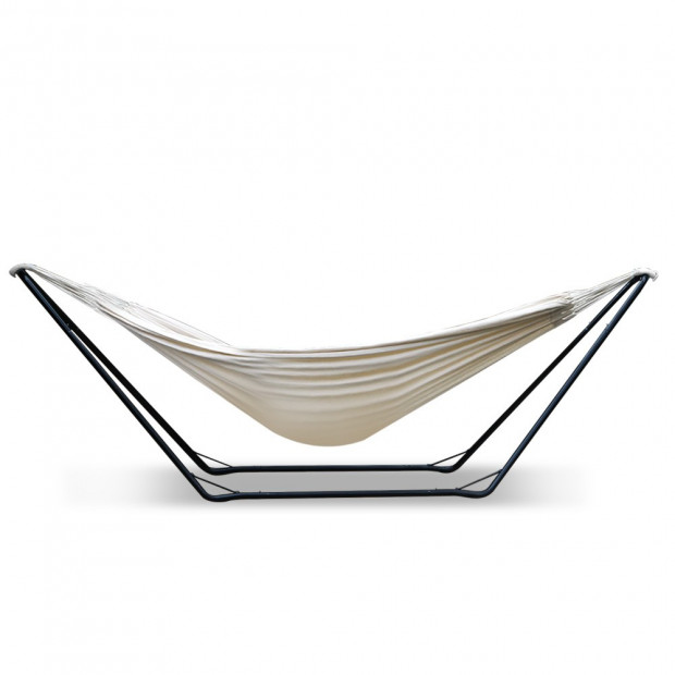 Free Standing Hammock Bed with Steel Frame - Cream model c Image 2