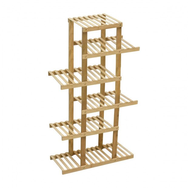 6 Tiers Bamboo Plant Flower Stand Shelf
