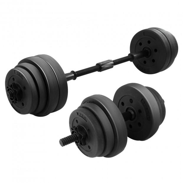 Powertrain 20kg ABS Dumbbell Barbell Set