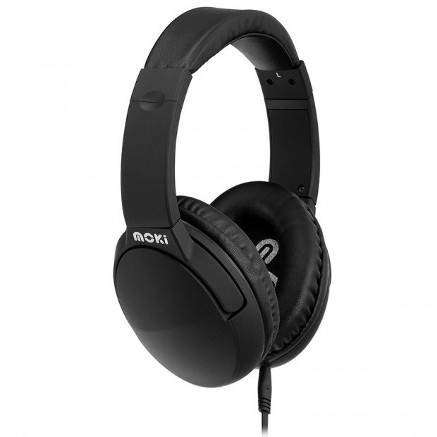 Moki Noise Cancellation Headphones - Black