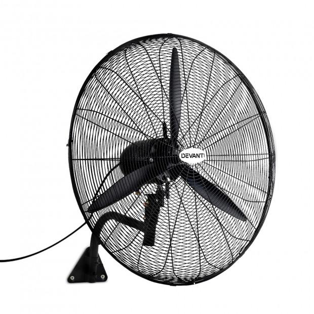 Industrial Wall Mounted Fan – Black