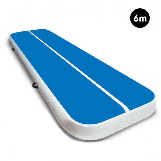 6m x 2m Airtrack Tumbling Mat Gymnastics Exercise Air Track Blue White