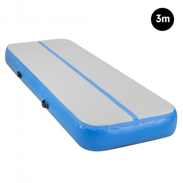 3m Inflatable Gymnastics Mat Gym Air Track Tumbling Airtrack - Blue