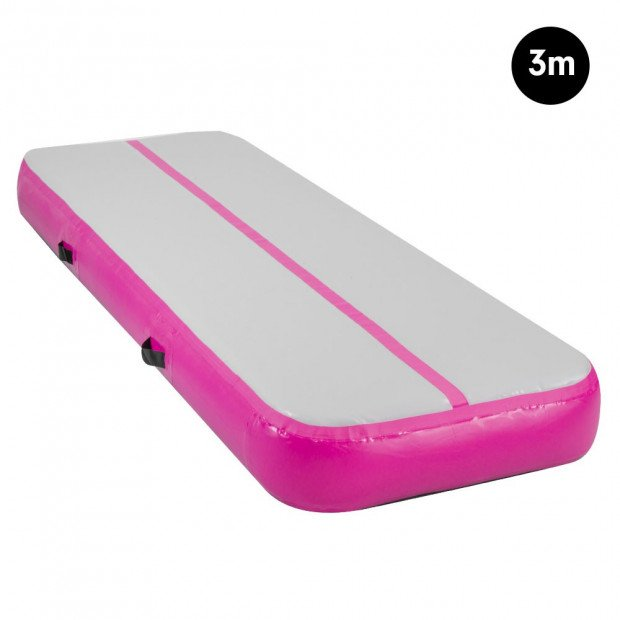 3m Inflatable Gymnastics Mat Gym Air Track Tumbling Airtrack - Pink